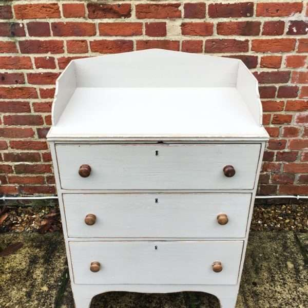 Regency Painted Pine Country Dresser Chest