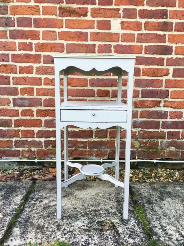 Regency Painted Mahogany Bedside Table3