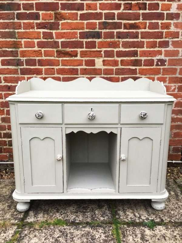 Mid Victorian Painted Mahogany Small Dresser3