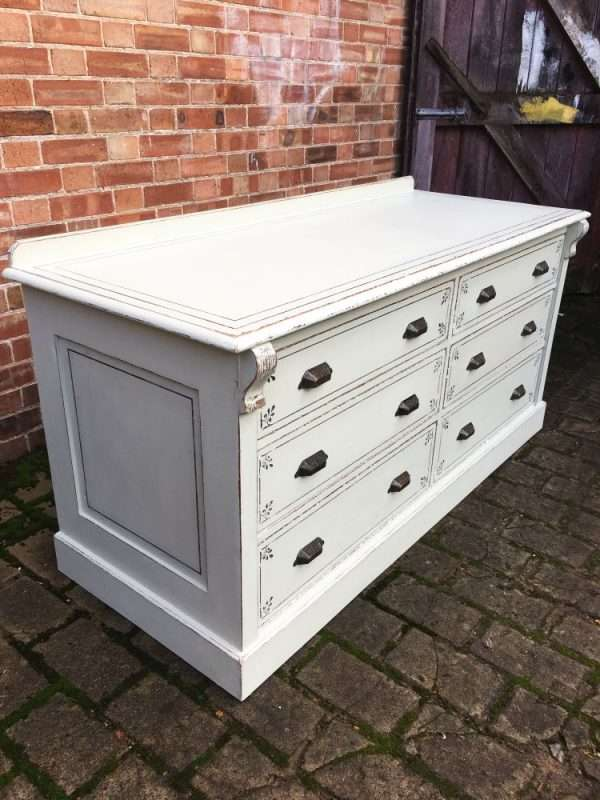 Mid Victorian Painted Mahogany 6 Drawer Base4