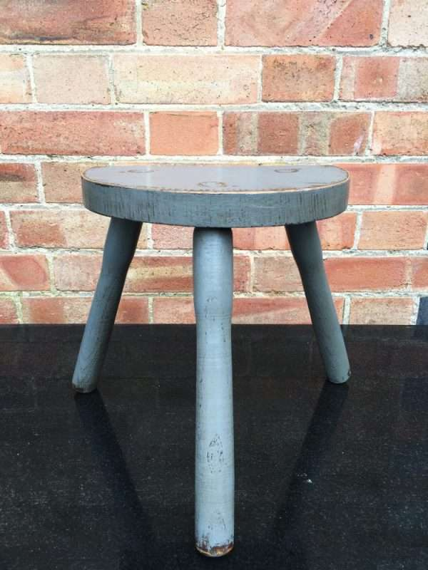 Edwardian Painted Oak Milking Stool