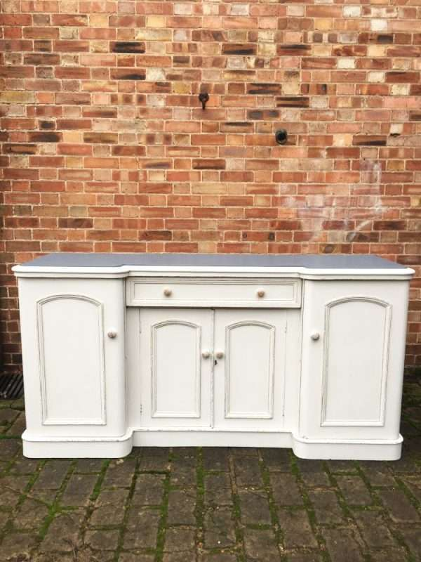 Mid Victorian Painted Mahogany Sideboard4