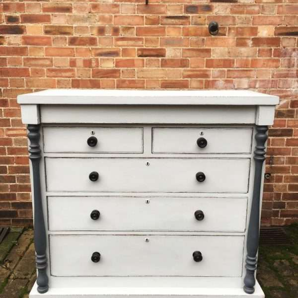 Early Victorian Painted Mahogany Gentleman's Chest5