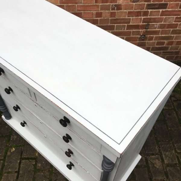 Early Victorian Painted Mahogany Gentleman's Chest2