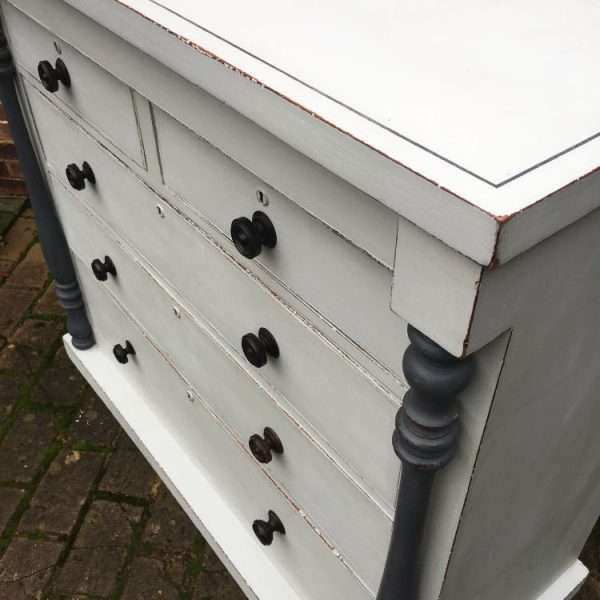 Early Victorian Painted Mahogany Gentleman's Chest1