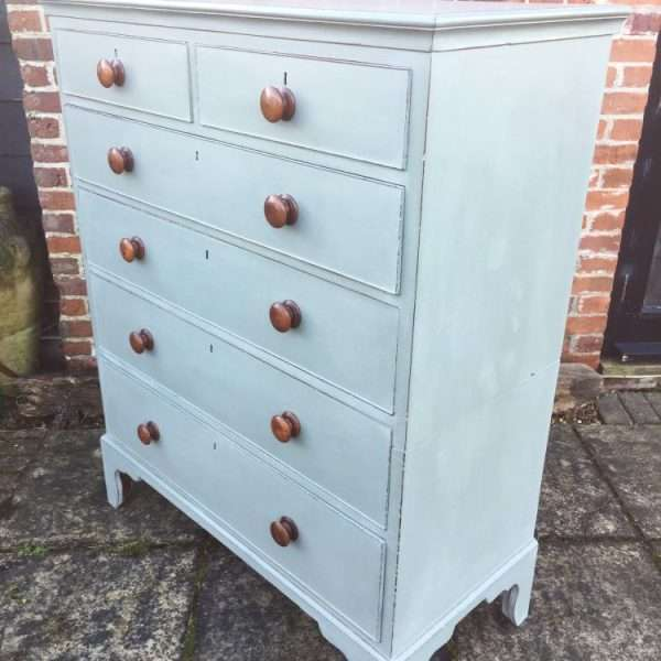 Late Georgian Painted Mahogany Chest Of Drawers1