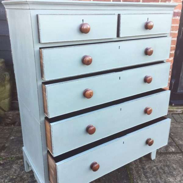 Late Georgian Painted Mahogany Chest Of Drawers2