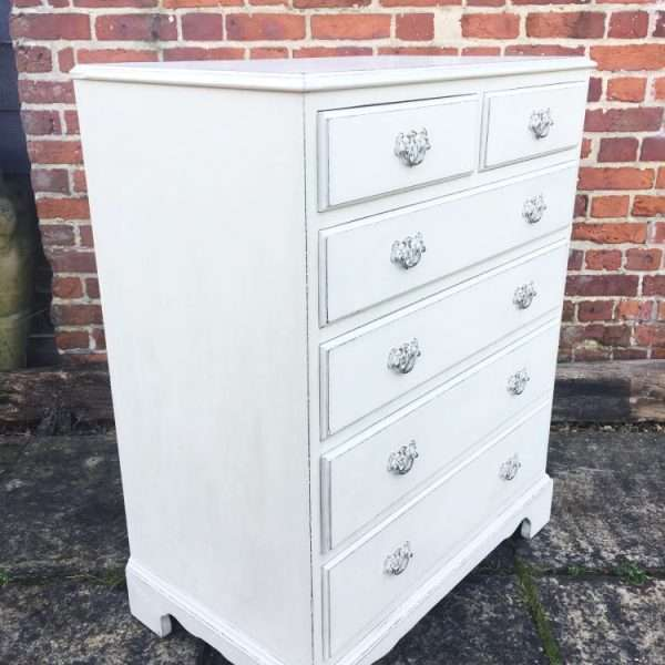 Edwardian Painted Mahogany Chest Of Drawers1