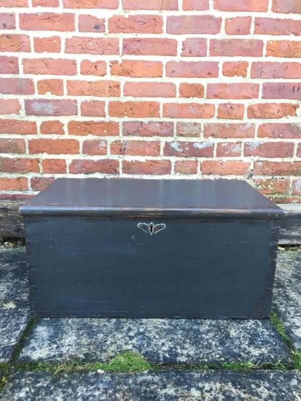 Late Victorian Painted Oak Box