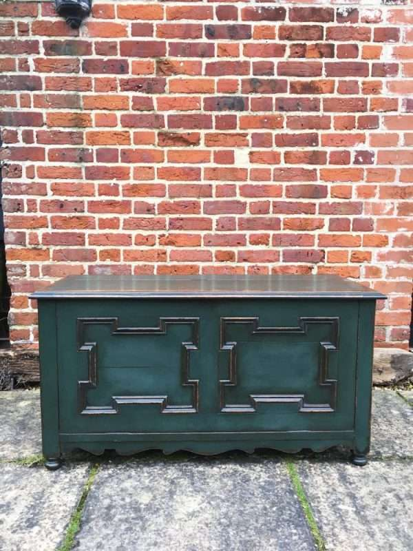 Edwardian Painted Oak Coffer Chest