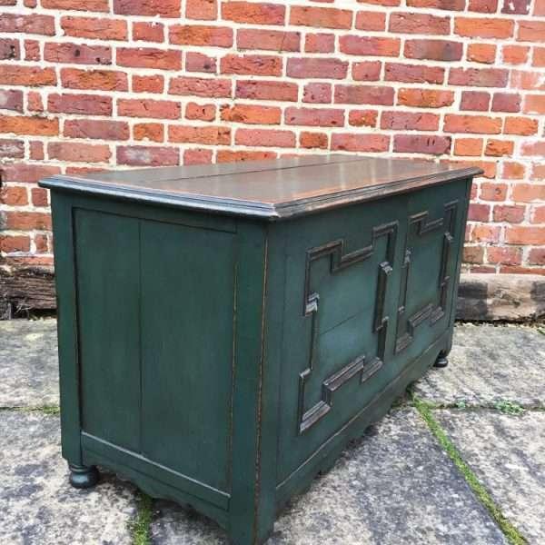 Edwardian Painted Oak Coffer Chest4