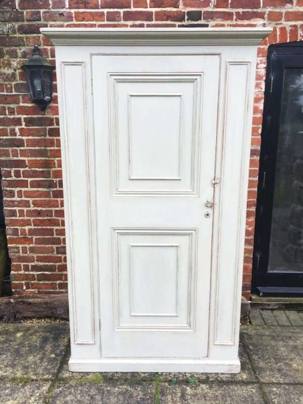 Mid Victorian Painted Pine Wardrobe4