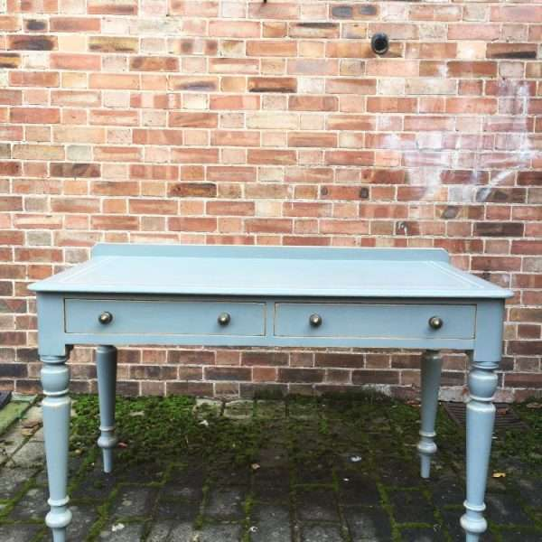 Mid Victorian Painted Pine Writing Desk Table