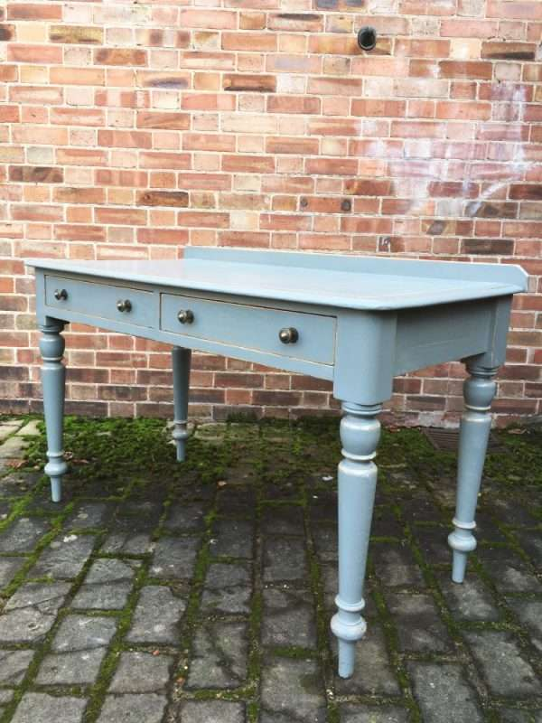 Mid Victorian Painted Pine Writing Desk Table1