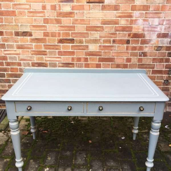 Mid Victorian Painted Pine Writing Desk Table3