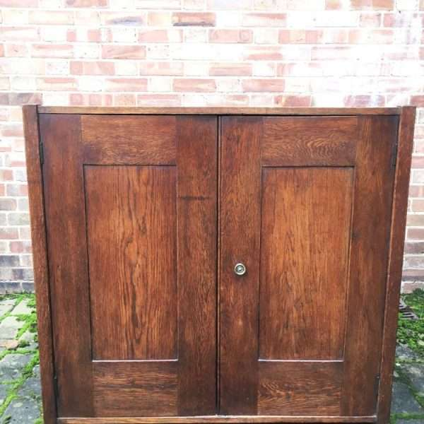 1930's Oak 2 Door Cupboard