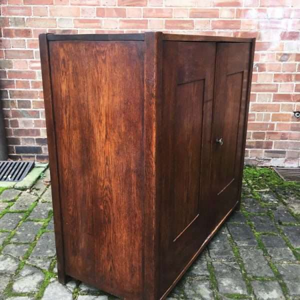 1930's Oak 2 Door Cupboard2