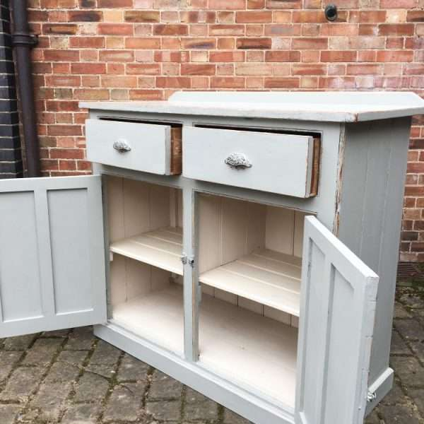 Mid Victorian Painted Pine Utility Cupboard2