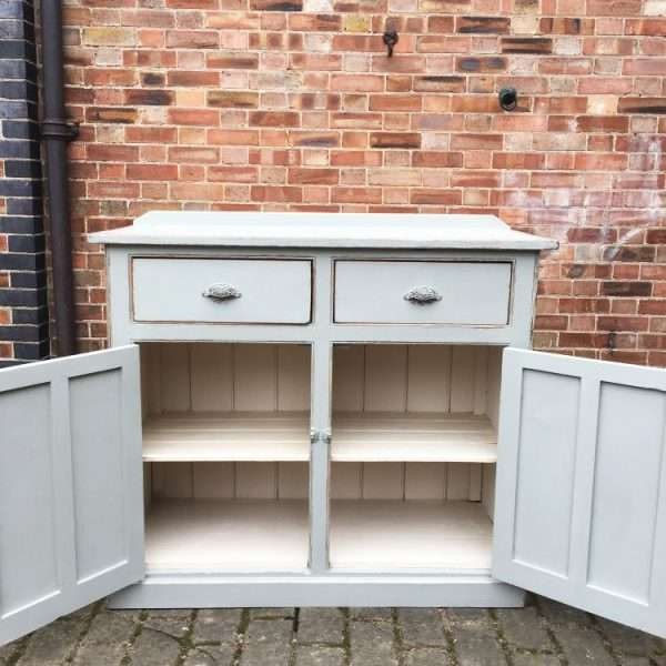 Mid Victorian Painted Pine Utility Cupboard4