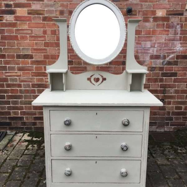 Arts & Crafts Painted Oak Dressing Chest