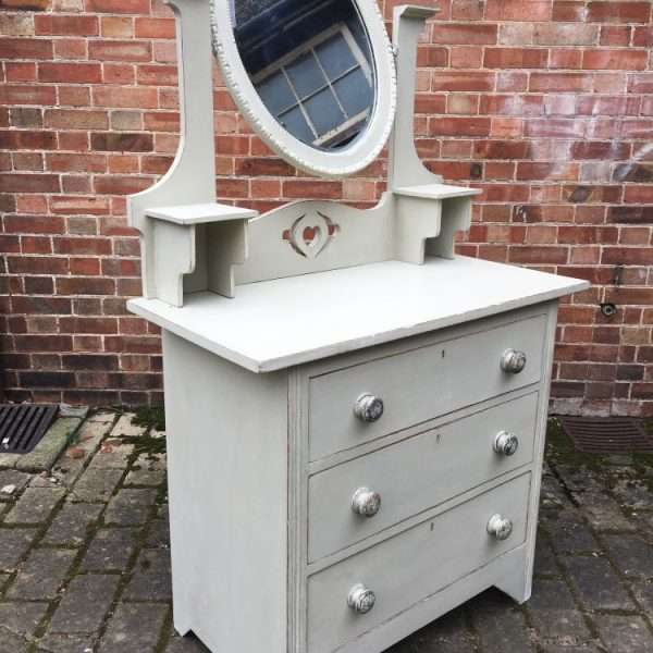 Arts & Crafts Painted Oak Dressing Chest1