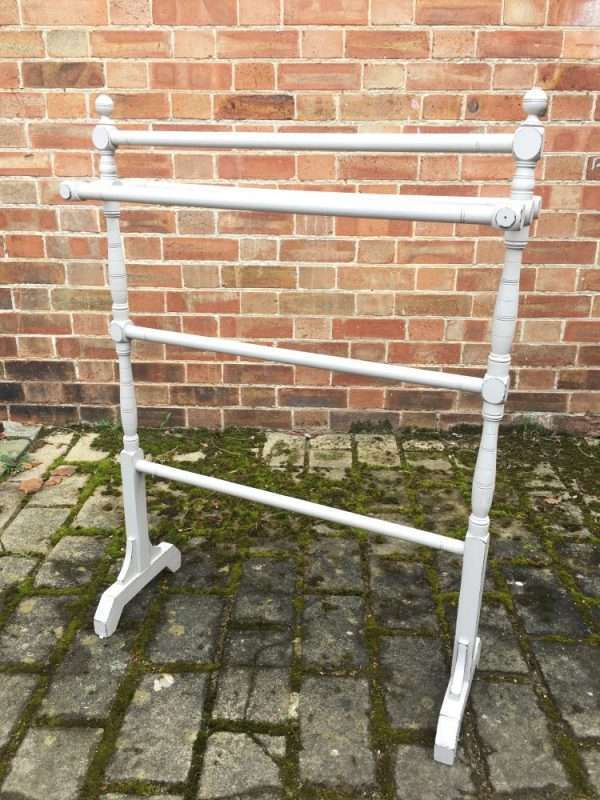 Mid Victorian Painted Pine Towel Rail
