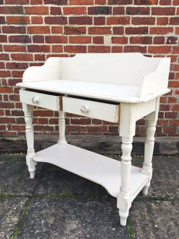 Mid Victorian Painted Pine Washstand 1