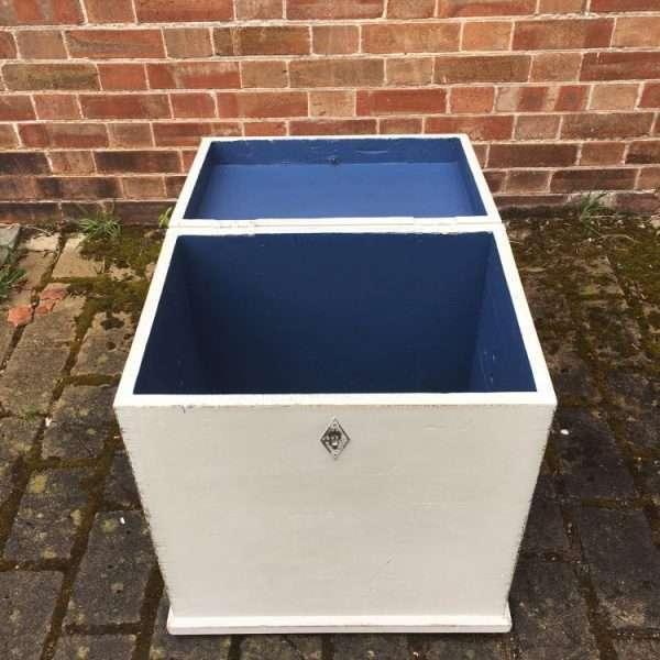 Edwardian Painted Pine Storage Box2