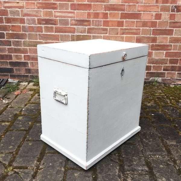 Edwardian Painted Pine Storage Box