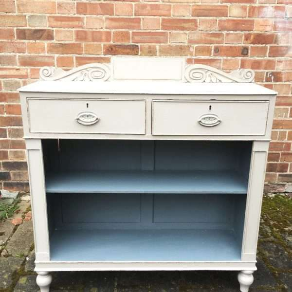 William IV Painted Mahogany Side Cabinet3