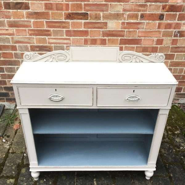 William IV Painted Mahogany Side Cabinet2
