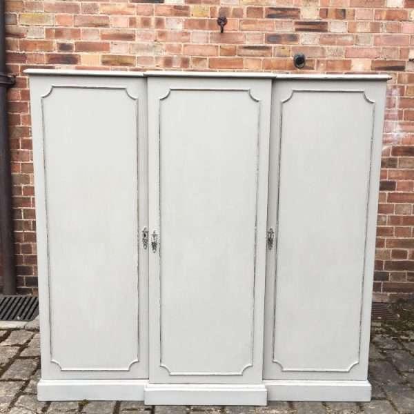Edwardian Painted Mahogany 12 Drawer Cabinet