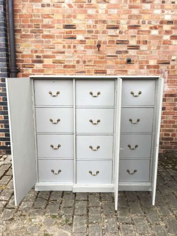 Edwardian Painted Mahogany 12 Drawer Cabinet5
