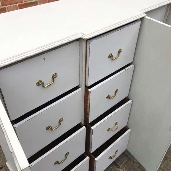 Edwardian Painted Mahogany 12 Drawer Cabinet6