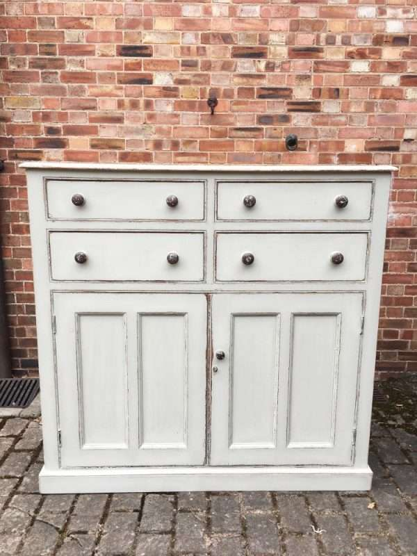 Mid Victorian Painted Pine Stable Cupboard5