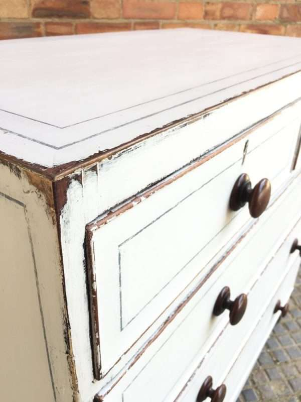 Regency Painted mahogany Chest Of Drawers3