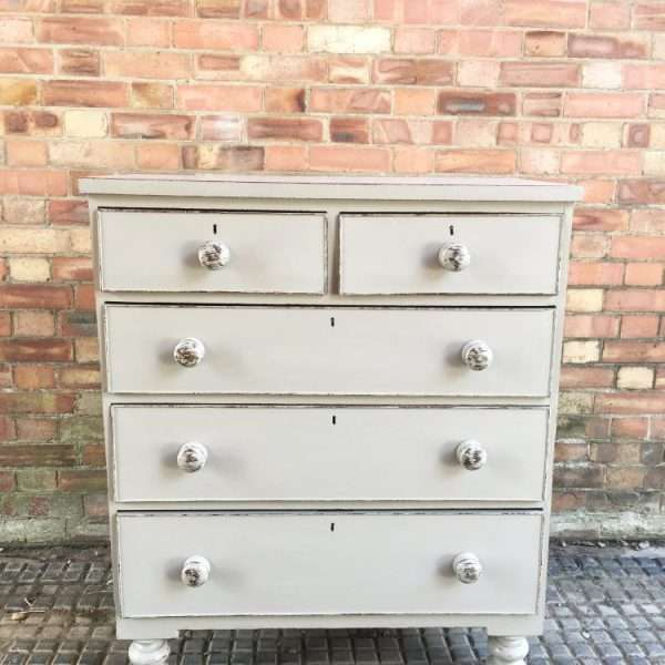 Late Victorian Painted Mahogany Chest Of Drawers3