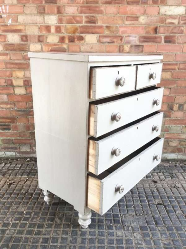 Late Victorian Painted Mahogany Chest Of Drawers1
