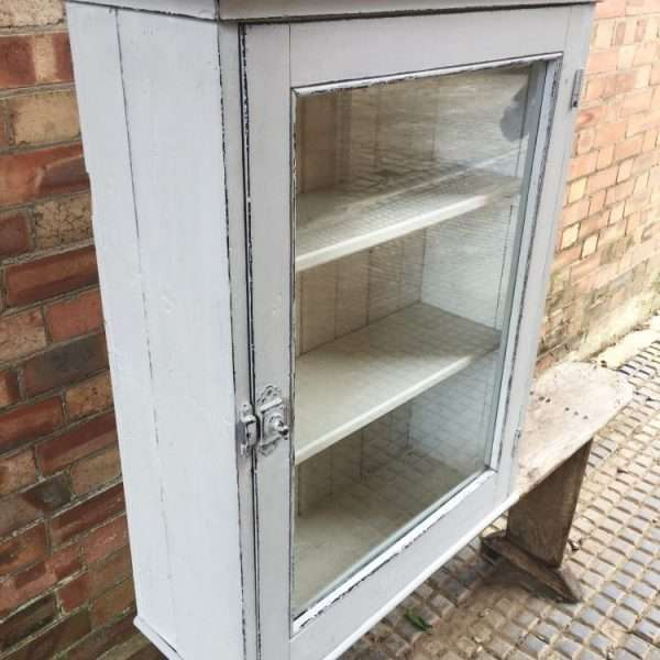 Edwardian Painted Pine Wall Cabinet2