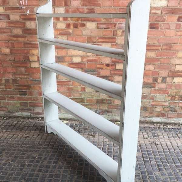 Late Victorian Painted Pine Rustic Shelves1
