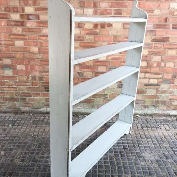 Late Victorian Painted Pine Rustic Shelves2