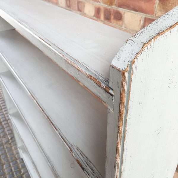 Late Victorian Painted Pine Rustic Shelves3