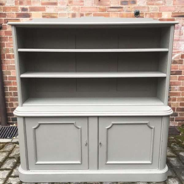 Mid Victorian Painted Mahogany 2 Part Bookcase4