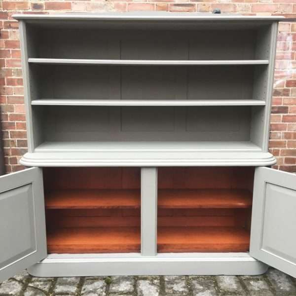 Mid Victorian Painted Mahogany 2 Part Bookcase2