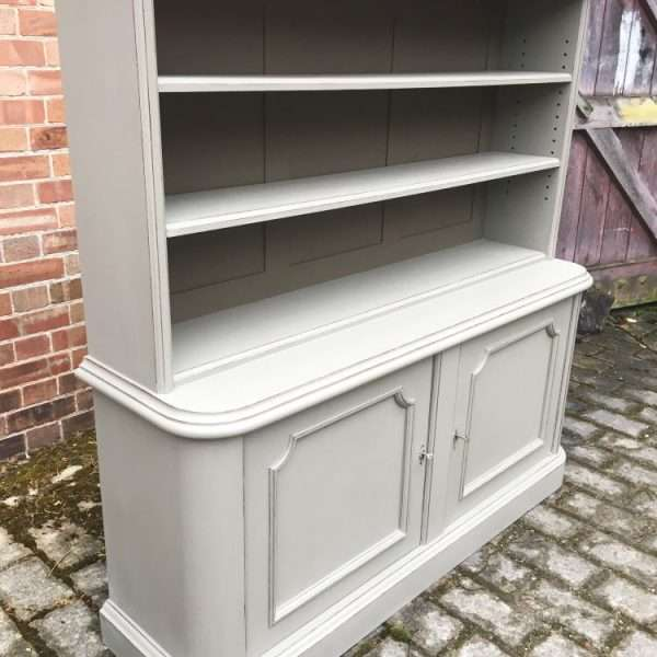 Mid Victorian Painted Mahogany 2 Part Bookcase