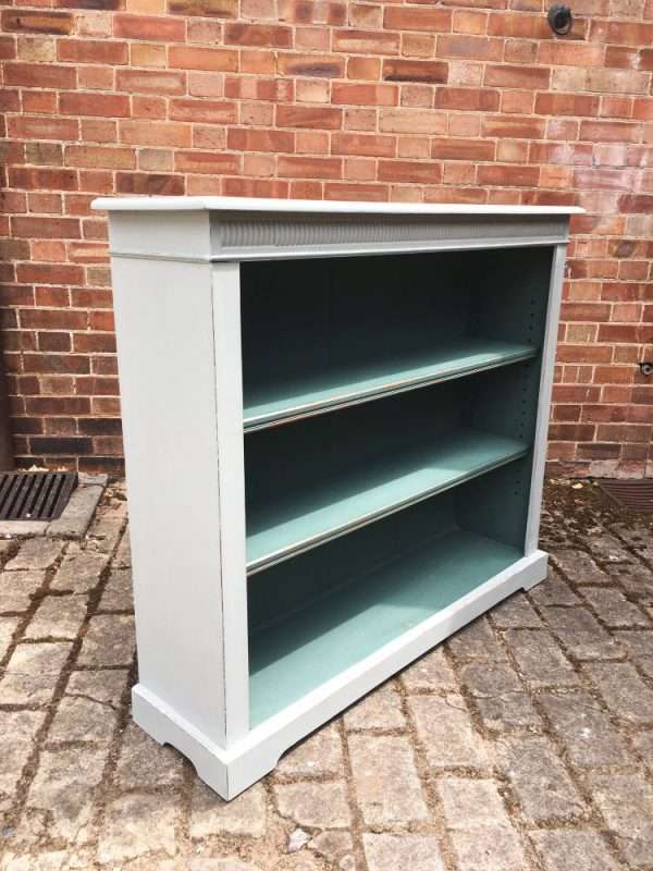 Edwardian Painted Oak Open Bookcase