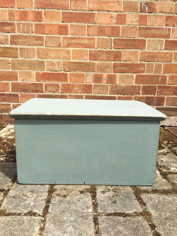 Mid Victorian Painted Pine Box2
