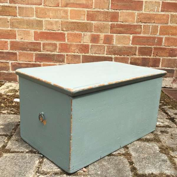 Mid Victorian Painted Pine Box1