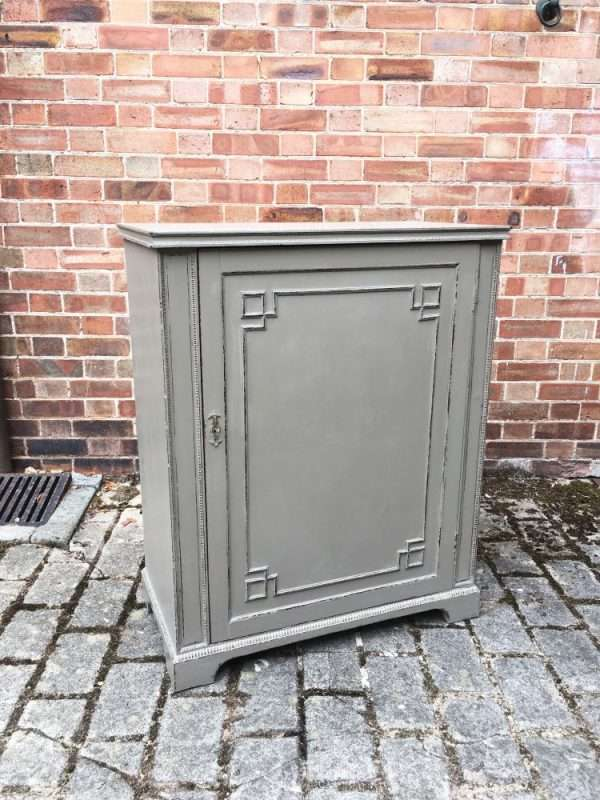 Edwardian Painted Mahogany Cupboard4