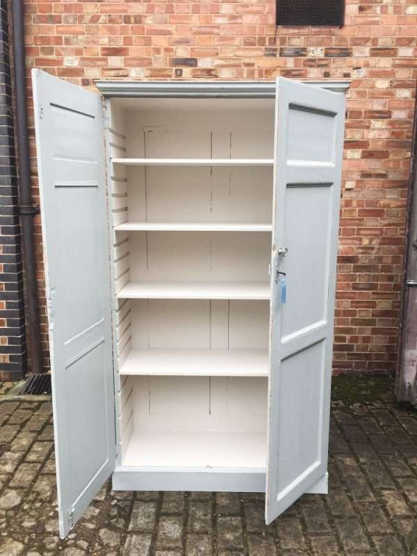 Mid 19th Century Painted Pine Linen Cupboard5
